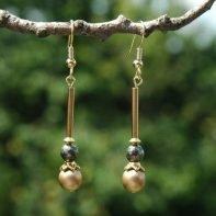 gouden pyriet oorbellen1