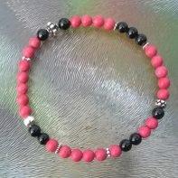 koraal onyx armband1
