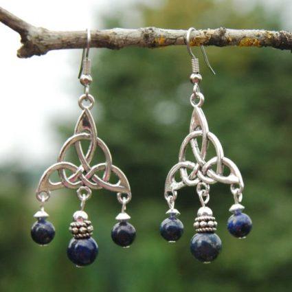 keltische oorbellen lapis lazuli1