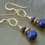 gouden lapis lazuli oorbellen 1a