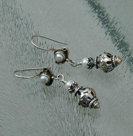 oorbellen met zoetwaterparels