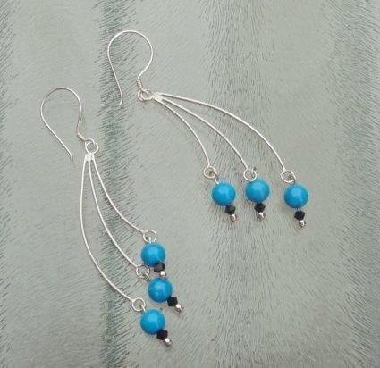 zilveren chandelier oorbellen